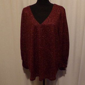 NEW! MAURICES  PLUS SIZE 2 Shimmer Glitter Top